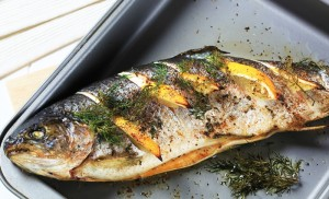 GRILLED TILAPIA IN GARLIC MARINADE